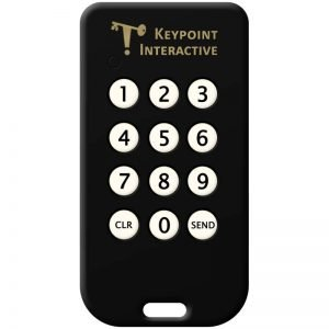 12 button keypad for Wireless Audience Response Systems for PowerPoint