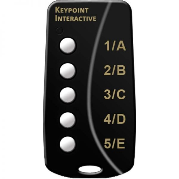 5 button keypad for Wireless Audience Response Systems for PowerPoint
